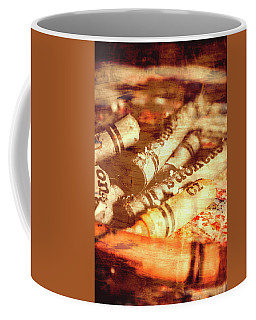 Sketchy Old Fine Art Palette Coffee Mug