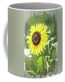 Coffee Mug featuring the photograph Sketchy Sunflower 1 by Marty Koch