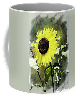 Coffee Mug featuring the photograph Sketchy Sunflower 2 by Marty Koch