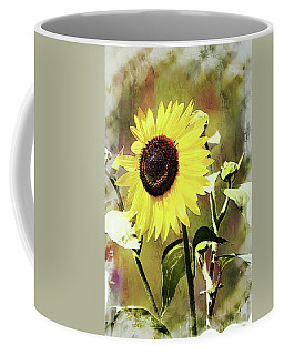 Coffee Mug featuring the photograph Sketchy Sunflower 3 by Marty Koch
