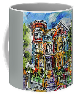 Sketchy Victorian Coffee Mug by Terry Banderas