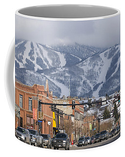 Ski Resort And Downtown Steamboat Coffee Mug