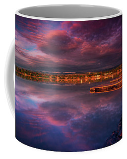 Coffee Mug featuring the photograph Skies Of Golden Hour by John De Bord