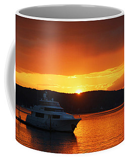 Skies On Fire Coffee Mug by Living Color Photography Lorraine Lynch