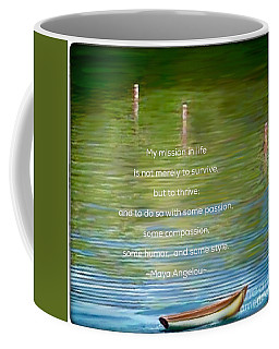 Skiff Boat Quote Coffee Mug