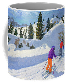 Skiing, Rock City, Selva Gardena, Italy Coffee Mug