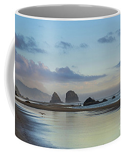 Skimming Along The Beach At Sunset Coffee Mug