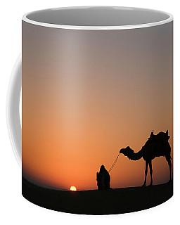 Skn 0870 Silhouette At Sunrise Coffee Mug