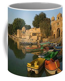 Skn 1391 A Visit To Gadisar Lake Coffee Mug by Sunil Kapadia