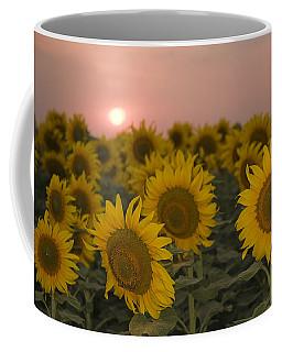 Skn 2178 The Sunflowers At Sunset  Coffee Mug by Sunil Kapadia
