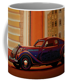 Skoda Popular Sport Monte Carlo 1935 Painting Coffee Mug
