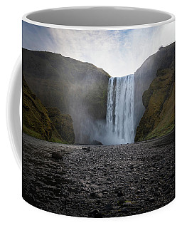 Coffee Mug featuring the photograph Skogafoss Waterfall In Iceland by James Udall