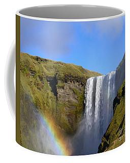 Skogafoss Waterfall With Rainbow 151 Coffee Mug