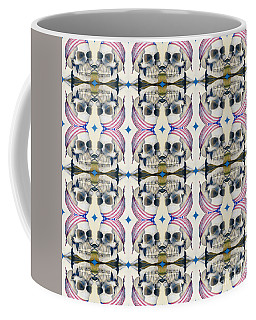 Skull Mirror Pattern Large Coffee Mug