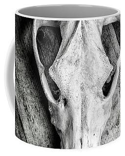 Skull On Wood Coffee Mug