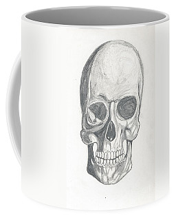 Coffee Mug featuring the drawing Skull Study 2 by Reed Novotny