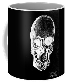 Coffee Mug featuring the drawing Skull Study 3 by Reed Novotny