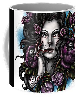 Skulls And Roses Coffee Mug