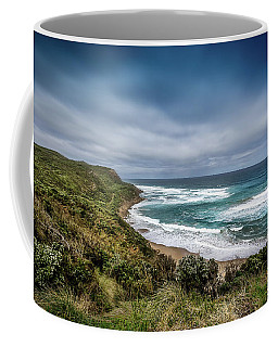 Coffee Mug featuring the photograph Sky Blue Coast by Perry Webster