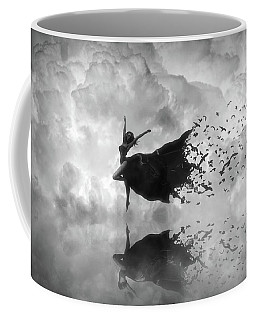 Sky Dancer - Black And White Coffee Mug