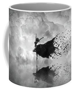 Sky Dancer - Black And White Coffee Mug by Lilia D