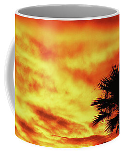 Coffee Mug featuring the photograph Sky Fire by Elaine Malott