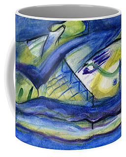 Coffee Mug featuring the painting Sky Of Blue by Stephen Lucas