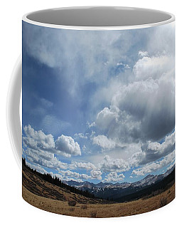 Coffee Mug featuring the photograph Sky Of Shrine Ridge Trail by Amee Cave