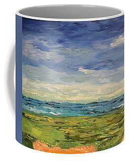 Coffee Mug featuring the painting Sky, Sea And Golf  by Geeta Biswas