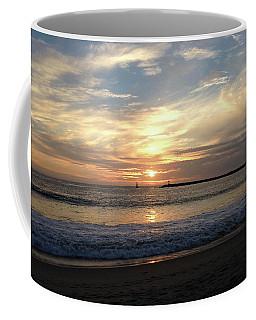 Coffee Mug featuring the photograph Sky Swirls Over Toes Beach by Lorraine Devon Wilke