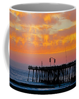 Skyfall At Pismo Beach Pier Coffee Mug