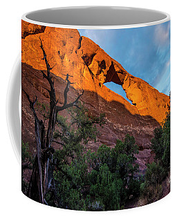 Coffee Mug featuring the photograph Skyline Arch At Sunset - Arches National Park - Utah by Gary Whitton