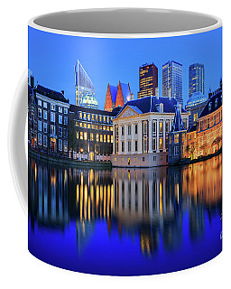 Skyline Of The Hague At Dusk During Blue Hour Coffee Mug