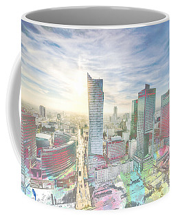 Skyline Of Warsaw Poland Coffee Mug