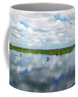 Skyscape Reflections Blue Cypress Marsh Conservation Area Near Vero Beach Florida C2 Coffee Mug