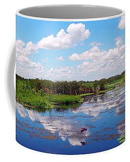 Skyscape Reflections Blue Cypress Marsh Near Vero Beach Florida C5 Coffee Mug