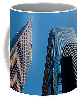 Coffee Mug featuring the photograph Skyscrapers Reflect Los Angeles by Lorraine Devon Wilke