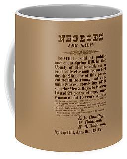 Slave Auction Coffee Mug