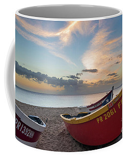 Sleeping Boats On The Beach Coffee Mug