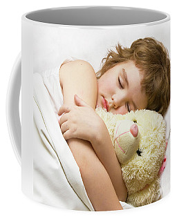 Sleeping Boy Coffee Mug by Irina Afonskaya