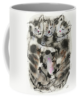 Sleeping Kittens Coffee Mug by Zaira Dzhaubaeva