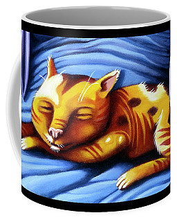 Sleeping Kitty Coffee Mug