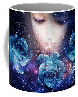Sleeping Rose Coffee Mug by Mo T