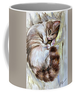 Sleepy Cat 2 Coffee Mug