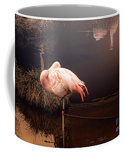 Sleepy Flamingo Coffee Mug