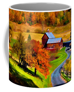 Coffee Mug featuring the photograph Digital Painting Of Sleepy Hollow Farm by Jeff Folger