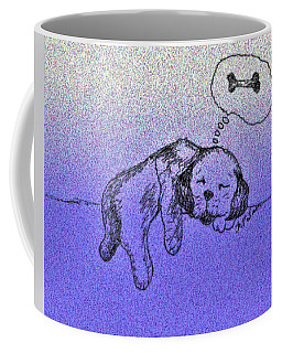 Sleepy Puppy Dreams Coffee Mug