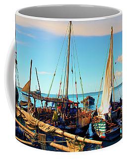 Sleepy Sail Boats Zanzibar Coffee Mug
