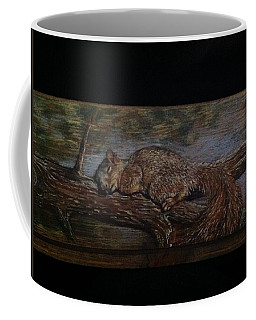 Sleepy Squirrel Coffee Mug