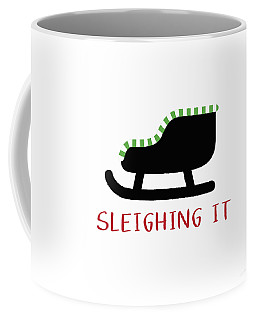 Sleighing It- Art By Linda Woods Coffee Mug